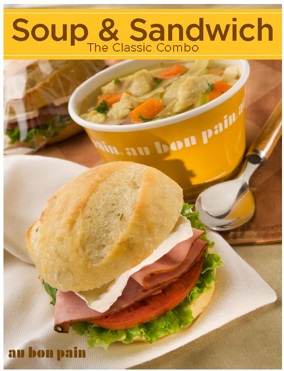 Features au bon pain soup amp sandwich